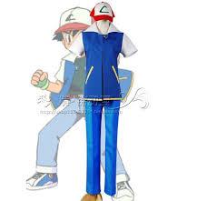 Ash Ketchum Halloween Costume Pokemon Ash Ketchum Trainer Costume Shirt Jacket Hat