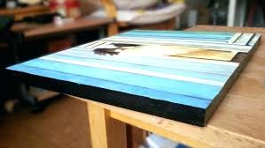 how to frame canvas board how to frame a painting a cradled canvas panel showing the
