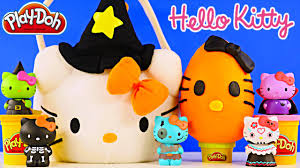 Hello Kitty Halloween Cake by Hello Kitty Surprise Basket Play Doh Egg Mermaid Princess Pets