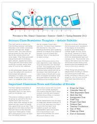 science teacher education newsletter free template for microsoft