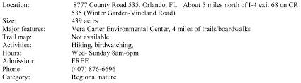 Orlando Urban Trail Map by Orlando Area Nature Spots