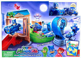 disney junior pj masks rival racers track playset play toywiz