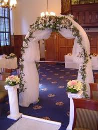 Wedding Arches Decorated With Tulle Wedding Arche With Tulle With Decorations Tulle Arch Decor