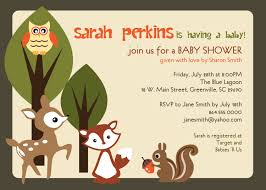 printable baby shower invitation woodland animals creatures