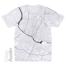 Austin Tx Maps by Citee Fashion Austin Tx Map T Shirt