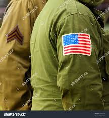 Military Flag Patch Flag Patch On American Soldier Uniform Stock Photo 59960578