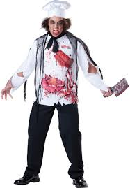 chef costume goremet chef costume horror fancy dress escapade uk