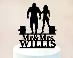 weight lifting cake topper weight lifting etsy