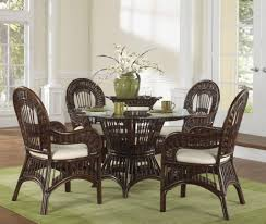 wicker kitchen furniture rattan dining chairs presenting modern rusticity for nature themed