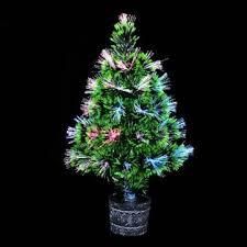 colorful fiber optic christmas tree home garden pub decor at