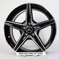 mercedes amg black rims mercedes amg 18 black alloy rims set 5 spoke for c class