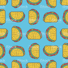 taco drawing background mexican fast food pattern food from mexico