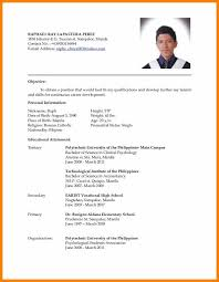 most recent resume format format of resume most recent resume