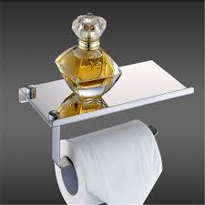 strong man toilet paper holder solid chrome bathroom toilet paper holder roller wall tissue rack