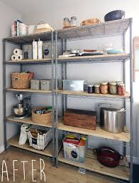 the crux how to give pantry shelving easy rustic charm the crux