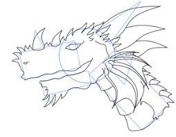 dragon head drawing lesson