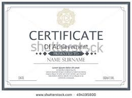 certificate diploma template achievement success diploma stock
