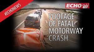 shocking footage shows moment lorry crashed into car and killed