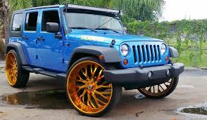 gold jeep wrangler ace 1 blue jeep wrangler unlimited on gold 30 s asantis
