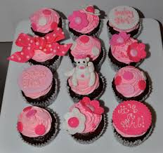 leah u0027s sweet treats pink baby shower cupcakes
