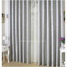 Floor Length Curtains Silver Color Classic Thick Floor Length Curtains