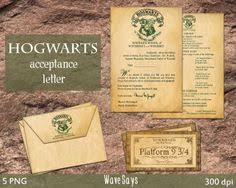 printable hogwarts acceptance letter personalized by partysparkle