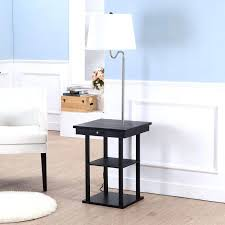 End Table Lamp Combo Floor Lamp Table Magazine Rack Combination Combo Plan End Behind