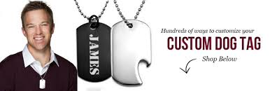 customized dog tag necklace engraved dog tags personalized dog tags