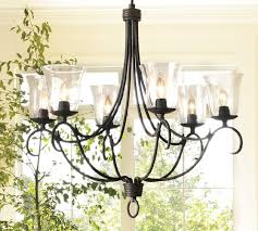 Candle Chandelier Pottery Barn Cecilia Hurricane Chandelier Pottery Barn