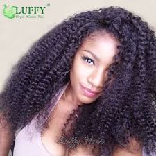 mongolian hair virgin hair afro kinky human hair weave cheap price afro kinky curly full lace human hair wigs for black