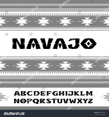 navajo font style ornaments indian tribes stock vector 664704316