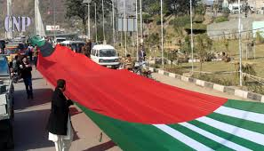 Flag Of Pakistan Pic Thousands Of Ajk Ppp Workers Make Way To Parade Ground Rally In
