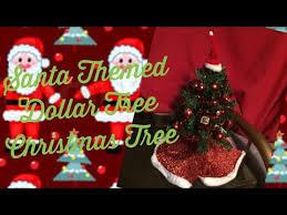 santa themed dollar tree tree