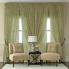 Green Sheer Curtains Semi Sheer Batiste Rod Pocket Panel In Olive Green
