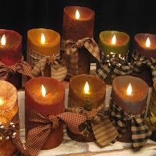 5 primitive battery operated flameless candles the brick