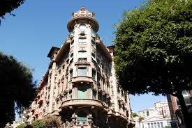 file baroque architecture in the streets of savona liguria region