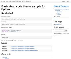 html themes sphinx customize the design sphinx theme for basicstrap style documentation
