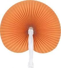 paddle fans paddle fans orange folding fan 10 pack