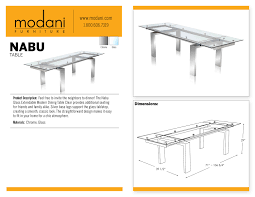 nabu extendable glass dining table offers additional seating