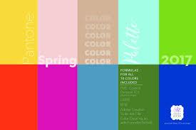 2017 color pallets pantone spring 2017 color palette palettes creative market