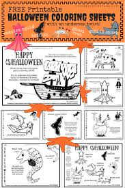 Free Printable Halloween Books by Free Printable Undersea Halloween Coloring Sheets U2013 Living
