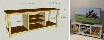 how to build an easy table easy to build tv stand kreg tool company
