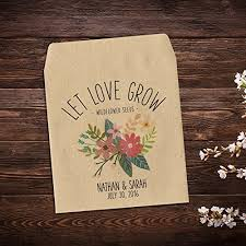 seed packet favors wedding seed packets seed packet favor custom seed