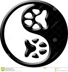 paw yin yang tattoo design photos pictures and sketches