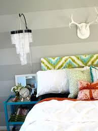 Diy Bedroom Headboard Ideas Diy Chevron Headboard Hand Painted Upholstered Headboard