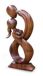 crafted and child wood sculpture statue forms