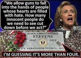 Benghazi Meme - hillary s hypocrisy on guns and hate summed up by one meme