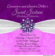 sweet jewel sixteenth celebration invitation lovely 16
