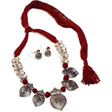 fashion necklace sets images German silver fashion necklace set savya jpg