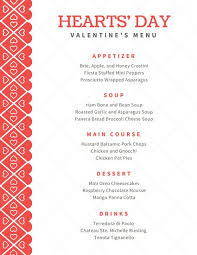 white with red heart pattern valentine u0027s day food and drink menu